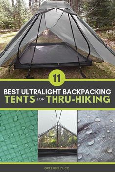 Gear guide to the best ultralight backpacking tents for thruhiking Ultralight 1 person 2 person nylon cuben fiber dyneema freestanding and nonfreestanding tents tested by. Camping Bedarf, Hiking Tent, Backpacking Tent, Thru Hiking, Outdoor Camping, Camping Hacks, Hiking The Appalachian Trail, Pct Trail, Best Tents For Camping