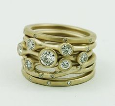 Unique+Stackable+Rings,+Diamonds,+Gemstones,+14k+Gold,+Sterling+Silver+Ring,+$2299.00