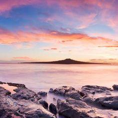 Sunset over Takapuna Beach - New Zealand....
