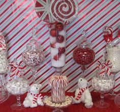 Red and White, Candy Cane Christmas/Holiday Party Ideas | Photo 4 of 8