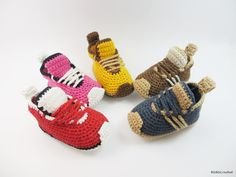 Zapatos de bebé botitas de bebé del ganchillo zapatos por Yunisiya