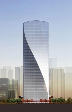 Qintai International Tower by Adrian Smith + Gordon Gill