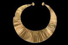 The Irish Lunula c2000–1500 BC © The Drapers' Company - bronze age, may have been a chieftain's collar