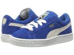 950f1cd1eac Puma Kids Suede PS (Little Kid Big Kid). Blue Pumas
