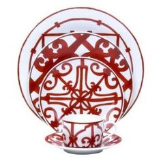 Hermes Balcons du Guadalquivir Red, a.k.a., Christmas China of My Dreams.