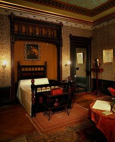 Aesthetic interior with 1880 sidewall courtesy of the Cooper-Hewitt  National Design Museum.