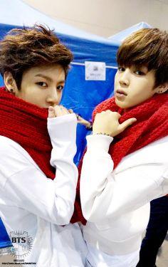 jimin and  jongkook