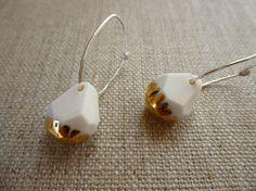 Luster Gem Hoop Earrings by andODesign on Etsy, $55.00