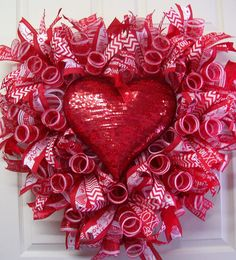 happy valentines day wreathred sequined heart wreathvalentine mesh wreathheart wreath