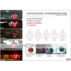 Automobile face lights Drivemocion LED Car Message Sign Five Animated Pure Face (CEG50170)