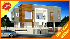 30 Beautiful Modern House Front Elevation Designs 2019  | Double Floor Fresh and Modern ideas of Double Floor House Elevations!! Express your thoughts below. We want to hear from you.  Also, share it with others if you loved our designs!! Front Elevation Designs, House Elevation, Interior Design Videos, House Front, Flooring, Fresh, Thoughts, Beautiful, Architecture