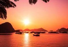 Kết quả hình ảnh cho Halong Bay sunset