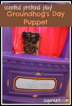 Groundhog's Day Pretend Play Puppet. It's scented! You'll never guess with what! (No, it doesn't smell like a groundhog ;) ) By Sugar Aunts