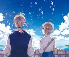 anime, france, and hetalia image Hetalia France, Studio Deen, Bad Touch Trio, Hetalia Characters, Look At The Sky, Joan Of Arc, Above The Clouds, Axis Powers, Denmark