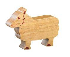Fair trade wooden toy sheep