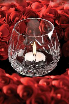 The Billion Roses 🌹 Waterford Crystal, Lismore Crystal Votive Waterford Lismore, Waterford Crystal, Romantic Candles, Beautiful Candles, Crystal Glassware, Crystal Vase, Cut Glass, Glass Art, Chandeliers