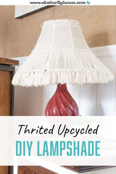 This DIY Woven Lampshade is easy to make and doesn't require any fancy macrame knots. A budget project to bring some texture to your lighting! #DIYProjects #Macrame House Projects, Furniture Projects, Garden Projects, Diy Projects, Easy Crafts, Easy Diy, Thrift Store Furniture, Butterfly House, Simple Furniture
