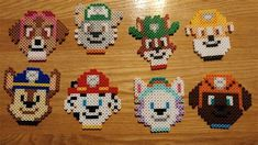 Melty Beads Patterns Paw Patrol #beading #pearlerbeads #ideas