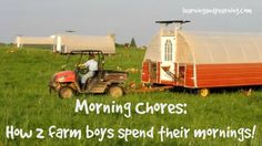 Morning Chores: How 2 farm boys spend their mornings! This is really a great chicken mobile they have detailed in this cute story!