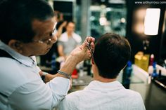 Making of do Noivo na Barbearia Figaro