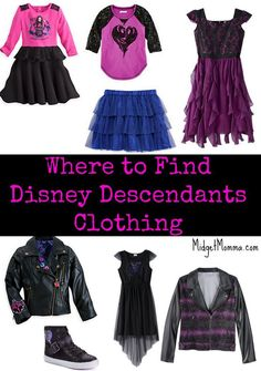 With the new Disney Descendants movie being such a big hit the next thing the kids are going to want is to dress like their favorite character and that can easily be done with the different Disney Descendants clothing lines at various stores both online and in store. This list of where to buy Disney Descendants Clothing for your kids will make the hunt so much easier.