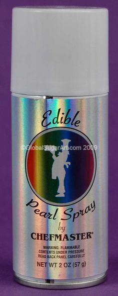 $10 Edible Metallic Spray - Pearl [24553] Details