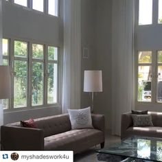 #Repost @myshadeswork4u ・・・ #Lutron drapery tracks for sheer shades. #dorado #shadeautomation #intellishades #betterblinds