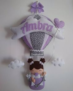 """La imagen puede contener: texto que dice """"Imbra Creativalove"""" Baby Crafts, Felt Crafts, Mobiles, Aurora, Manicure, Projects To Try, Dolls, Valentino, Pattern"""