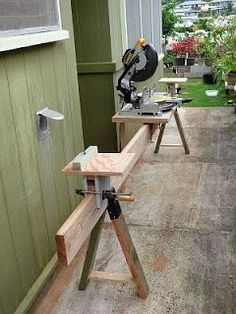 Woodworking Tools: How to Make a Miter Saw Table More