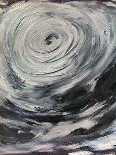 Typhoon... Acrylic on paper.