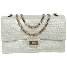75a94e9d4f2 Chanel Metallic Silver Alligator 2.55 Reissue Bag 226 Serial No. 14216118