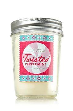 Twisted Peppermint 6 oz. Mason Jar Candle - Slatkin & Co. - Bath & Body Works