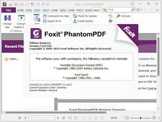 Foxit PhantomPDF Business 8.0  Working Patch  Download Foxit PhantomPDF Business 8.0  Working Patch. Foxit PhantomPDF - application for viewing editing and creating PDF documents. Among the advantages of the program - small size high speed run and the creation of PDF-documents. It allows you to merge and split PDF-documents delete and insert new pages create electronic forms and notes etc. You can convert to PDF file format DOC PPT TXT HTML and many others. You can create PDF-documents…