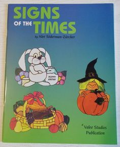 1996 'Signs of the Times' Stained Glass Pattern ~ Wonderful holiday and theme patterns!