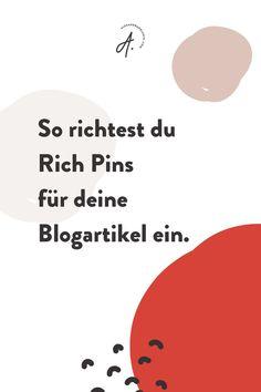 Pinterest Rich Pins sind sehr wichtig, wenn du Pinterest erfolgreich als Marketing-Kanal für dein Business nutzen möchtest. Du kannst Rich Pins für Rezepte, Produkte oder auch deine Blogartikel einrichten. Auf dem Blog findest du eine Anleitung, wie du Artikel Rich Pins bei den gängigsten Content Management Systemen, wie WordPress, Jimdo und Squarespace einrichtest. Pinterest Anleitung | Pinterest für Anfänger | Online Marketing Tipps #alexandrapolunin