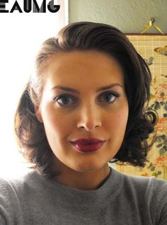 1930's makeup and hair. Love it!