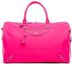 It's pink, REAL pink. Balenciaga Voyage 24H Rose Fluo