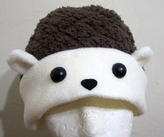 cute hedgehog Fleece Hat Anime Manga Cosplay Rave by AthenasWink