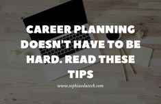 Career Planning Career Planning, How To Plan