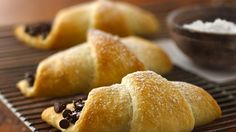 Chocolate Crescents - Could use the low fat ones as they're sweeter.  A decadent dessert with only 2 ingredients?  It's a Crescent wow!