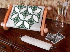 The Lap-stitch Mini Frame. Really great for working small - medium sized stitching projects.  doodlinarounddesign.com $69.95