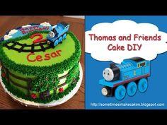 Thomas And Friends Birthday Cake - YouTube