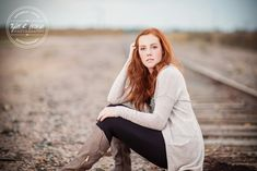Lauren McKeen - Downtown Prosper - Fall - Senior Portraits - Class of 2016 - Liberty High School - Texas - Railroad Tracks - Redhead - Frisco - Senior Pictures - #seniorportraits - Ideas for Girls - @sadibrookemua - #seniorpics - Tyler R. Brown Photography