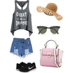 Dream & dreamer, custom tank top outfit.