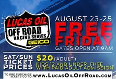 The Weekend is here!! Who's ready to get back into some off road racing!! Looking forward to catching you guy at the Lunarpages booth for all your web solutions!