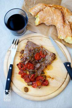 Fettine di vitello con olive e pomodorini: il risultato
