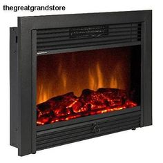 Best Choice Products SKY1826 Embedded Fireplace Electric Insert Heater Glass..