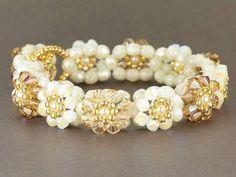 Wedding Linen Blooming Crystals Bracelet Kit