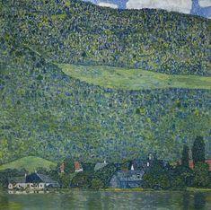 Bord de rivière, par Gustav Klimt -  1916