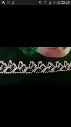 Oyalarım benim Crochet Borders, Tatting, Embroidery, Sewing, Diamond, Bracelets, Jewelry, Crochet Edgings, Tutorial Crochet